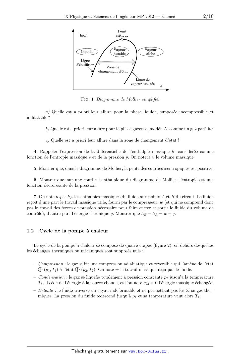 DIAGRAMME DE MOLLIER TÉLÉCHARGER
